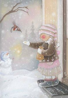 Find images and videos about christmas and snow on We Heart It - the app to get lost in what you love. Illustration Noel, Winter Illustration, Christmas Illustration, Christmas Pictures, Christmas Art, Winter Christmas, Vintage Christmas, Holiday, Winter Art
