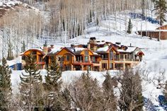 Life Goal: Own a house on Aspen's Billionaire's Mountain >> http://coolhouses.frontdoor.com/2013/01/25/colorado-compound-with-incredible-mountain-views/?soc=pinterest