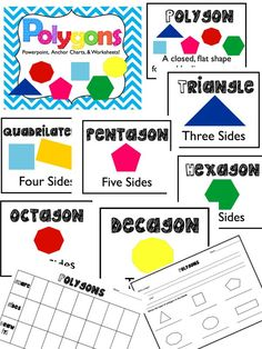 FREE for a limited time! Polygons Unit...powerpoint, matching posters, and two worksheets. Get if for free while it last!