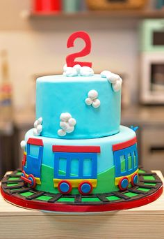 Train theme birthday party. Choo choo, he's turning two!