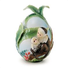 kathy ireland Home by Franz Collection Jungle FunPorcelain Sugar Jar