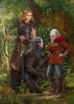Braenn, Geralt and Ciri Геральт внимательно рассмо&#1...