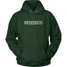 Never Quit Classic Logo Pull Over Hoodie | For Men & Women