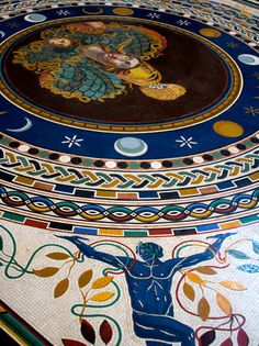 musei vaticani [vatican museums] the mosaic floor in the round room #TuscanyAgriturismoGiratola