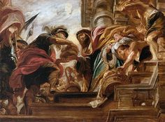 Abraham meets Melchizedek, one of three paintings by Ruebens on this subject