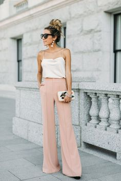Accessories to match with wide leg pants  | For more style inspiration visit 40plusstyle.com