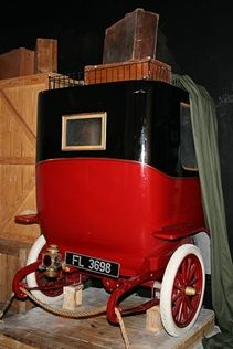 Legendary Lost Cars  A 1912 Renault famously sank with the Titanic 100 years ago and remains at the bottom of the ocean. This museum display demonstrates the car in the ship's cargo hold.