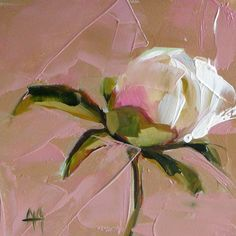 Peony no. 8 original flower oil painting by by prattcreekart