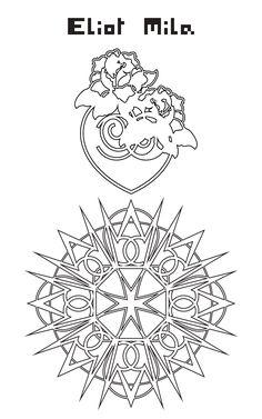 Nouveau tatoo pour Carole Brandon en trois PART-i pour superposition directe sur le corps...