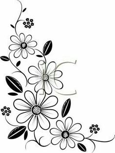 Iclipart royalty free clipart image of a flower cornerIdeas flowers black and white drawing doodles clip art for Botanical Corner stock images in HD and millions of other royalty-free stock photos, illustrations and vectors in the Shuttersto Free Clipart Images, Royalty Free Clipart, Ribbon Embroidery, Embroidery Patterns, Crewel Embroidery, Flower Patterns, Flower Designs, Motifs Perler, Black And White Drawing