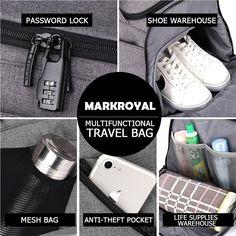 मार्कोयल बहुआयामी यात्रा थैला आयोजक ट्रॉली डफल बैग पुरुषों के लिए सामान सप्ताहांत बैग पर ले जाएं बड़ी क्षमता बैकपैक