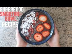 QUICK& EASY SUPERFOOD SMOOTHIE BOWL RECIPE! - http://www.bestrecipetube.com/quick-easy-superfood-smoothie-bowl-recipe/