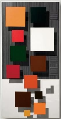 Spirales, 1967 by Jesus Rafael Soto. Piet Mondrian, Contemporary Abstract Art, Modern Art, Kandinsky, Asian Sculptures, Geometric Sculpture, Josef Albers, Kinetic Art, Abstract Painters