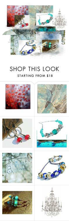 """""""Jewelry For Rainy And Sunny Weather"""" by flower-of-paradise ❤ liked on Polyvore featuring iCanvas, Swarovski, glassjewelry, glassnecklace, glassearrings, integrityTT and EtsySpecialT"""