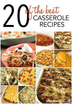 20 of the BEST Casserole Recipes EVER!  SixSistersStuff.com