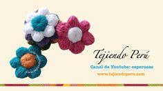 Flores de botón a crochet (+llista de reproducció)