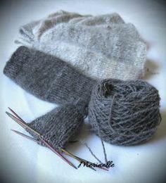 chiengora mittens #handspun #chiengora #husky #mittens