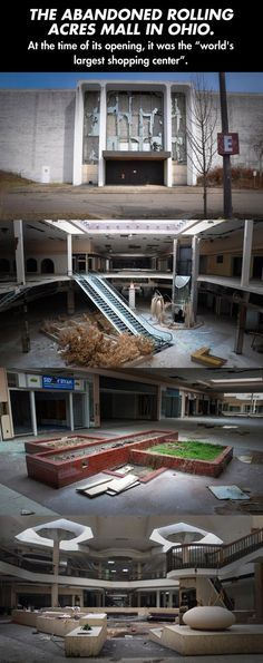 """An Abandoned Mall In Ohio *O.O They could totally use that as a set for  """"The Last of Us"""" live-action movie (If they are going to make it and add """"Left Behind"""" in it )*"""