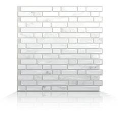 Smart Tiles Mosaik Self Adhesive Wall Tile in Bellagio Marmo (Set of 6)