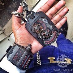 Watch men , poket and hand