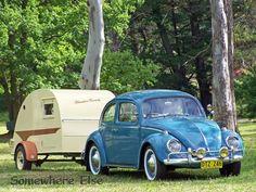 in love....love the vintage caravan and Beetles were my first love