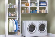 Closet Organizers IKEA Above Twin Washing Machines