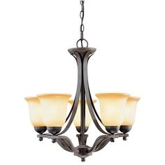 The Commercial Electric 5 Light Chandelier is perfect for your living room,dining room or den.With a Rustic Iron finish and Antique Ivory glass shades,this chandelier will be the focal point of your room. 5 Light Chandelier, Rustic Chandelier, Home Depot, Compact Fluorescent Bulbs, Ornamental Mouldings, Iron Chandeliers, Dining Room Lighting, Incandescent Bulbs, Glass Shades
