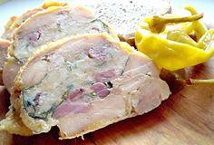 V troubě upečená masová roláda z vykostěného kuřete naplněného směsí z uzeného, kopřiv, sněhu z vaječných bílků, opečených rohlíků a dalších ingrediencí, servírovaná za studena, například jako studený předkrm.