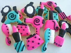 Makeover themed cookies.