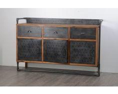 Enfilade portes coulissantes sur glissières chêne massif 2 tiroirs TRAMWAY    meubles rétro   Pinterest   Furniture, Painted Furniture and Furniture  makeover 15cd3c3648f8
