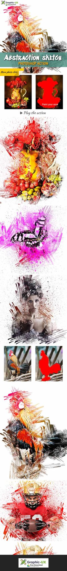 Neoart 3 Aquarelle Photoshop Action Free Graphicux Photoshop