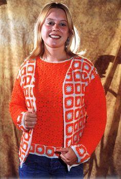 Chaqueta y jersey en tejido crochet