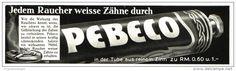 Original-Werbung/Inserat/ Anzeige 1929 - PEBECO ZAHNPASTA / BEIERSDORF- ca. 180 x 50 mm