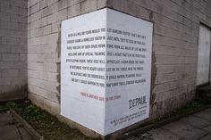 """""""Depaul street corners"""" by Publicis London for Depaul nightstop, 2015, London #uk #advertising #social"""