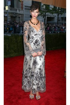 The Best Dressed Celebrities at the 2013 Met Gala:  Karlie Kloss in Louis Vuitton
