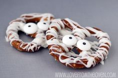 Sweet, salty, and easily devoured, these Halloween sweets will disappear so quickly it's scary. These mummy pretzels are a must-have!