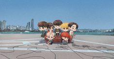 i love this fanart! so cute ^u^ Girls Girls Girls, Got7 Fanart, Kpop Fanart, Youngjae, K Pop, Cute Chibi, Photo Illustration, Cute Cartoon, Fan Art