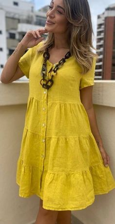 Cool Outfits, Summer Outfits, Casual Outfits, Summer Dresses, Corsage, Cotton Tunic Tops, Chic Dress, Frocks, Casual Looks
