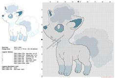 Vulpix Alola Pokemon Sun Moon free cross stitch pattern 93x98
