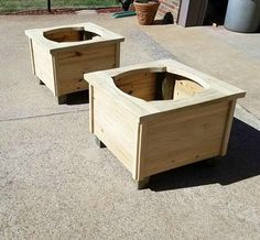 """""""I built 2 planter boxes from treated material because the wife wants to paint them black. This project was very fun. I got to use a few of my new toys in the build and that's always fun. Thanks."""""""