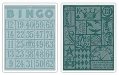 Tim Holtz Sizzix BINGO & PATCHWORK Texture Fades Embossing Folders 656643* at Simon Says STAMP!
