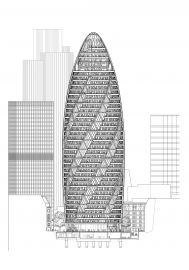 Norman Foster - 30 St Mary Axe, Swiss Re Headquarters (London) Swiss Re, 30 St Mary Axe, Foster Partners, Design Fields, Norman Foster, Famous Architects, Cladding, The Fosters, London