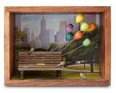 WAITING AVIARY - DAVID MONTGOMERY   Balloons, Park Bench, Birds, NYC, Central Park   UncommonGoods