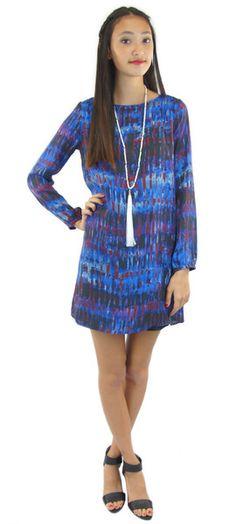 emily long sleeve shift dress