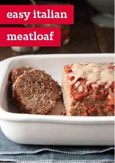 """Easy Italian Meatloaf – You'll never hear """"Not meatloaf again!"""" again. Stuffing mix adds way more flavor to the mix than plain-ol' same-ol' breadcrumbs."""
