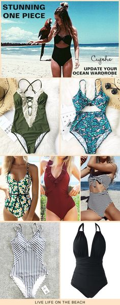 Start to shine~ These flattery swimwears are chic must-have of the year! Your perfect option for beach vacation! Listen! The sea is calling! Get our fantastic one-pieces ready with you at Cupshe.com ! FREE shipping~ Shop Now!