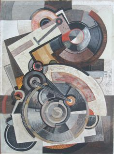 Abstract Painters, Abstract Art, Frantisek Kupka, Cubism Art, Gear Art, Mechanical Art, Legion Of Honour, Machine Age, Black And White Painting
