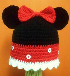 Minnie Mouse hat. 35$ included shipping cost. https://www.facebook.com/Shanny.Cafe.Crochet