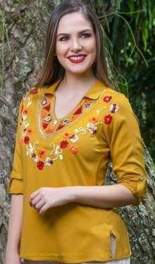 BLUSAS - PRIMAVERAL Bordados y Accesorios Frocks, Jumper, Floral Tops, Ideas, Fashion, Dapper Clothing, Nightgown, Block Prints, Women's