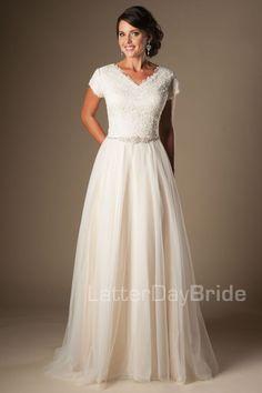 'Bayonne' Wedding dress, ballgown, modest bride, modest wedding